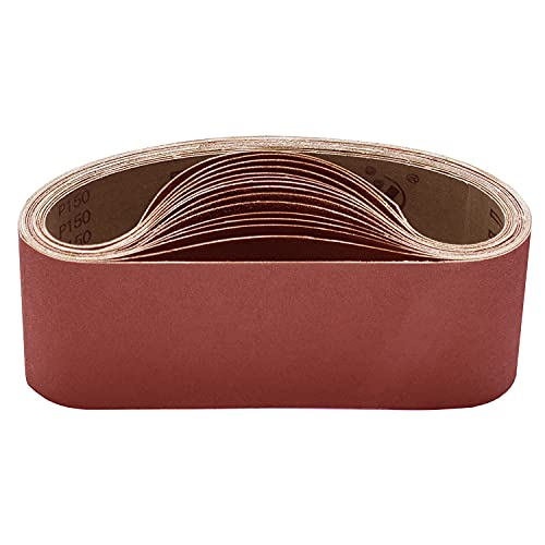 KITEOAGE 915 x 100 mm Schleifband, je 3 x Körner 80/120/150/240/400 Schleifbänder Set für Bandschleifer Schleifmaschine 15 Stück