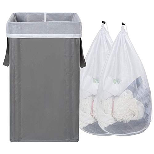 WOWLIVE Large Laundry Hamper with 2 Removable Bags 74L Foldable...
