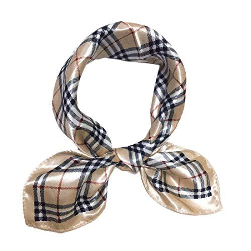 Seidenschal Frauen Große Quadratische Satin Kopftuch Halstücher Silk Bandanas Kopfschmuck 20 * 20inch
