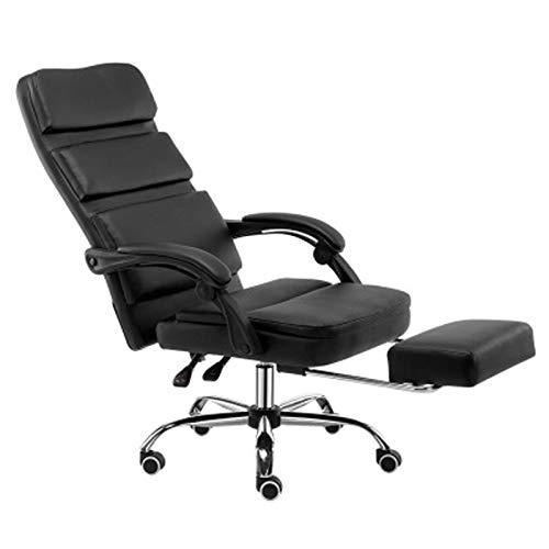 Silla de oficina Negocios Boss Silla de cuero Levantamiento Volver Silla giratoria reclinable Estudio Conferencia Silla Gaming negro