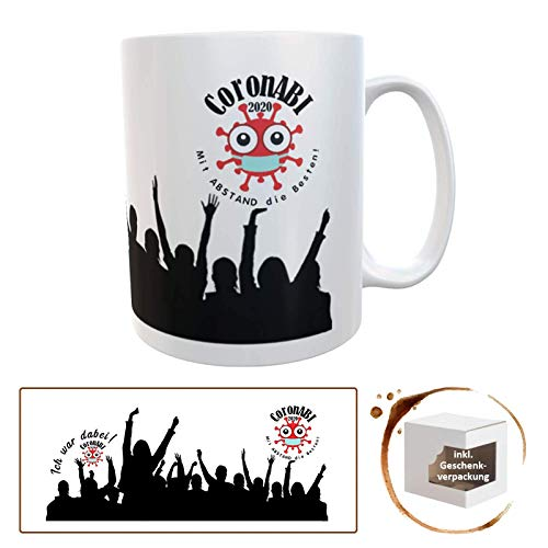 Kilala Tasse ABI 2020 Spruch Corona Geschenkidee Teenager Becher Kaffeetasse schwarz
