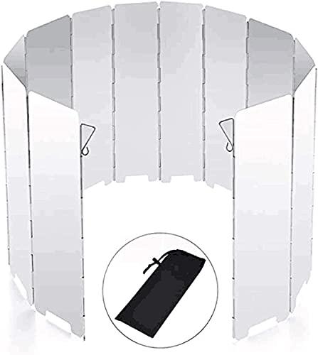 WLQWER 8/10/12/16 Platos Estufa para Acampar Parabrisas Parabrisas Plegable para Acampar, Estufas de Cocina Plegables Pantalla contra el Viento Escudo térmico para Caminatas, mochileros,12 Plates