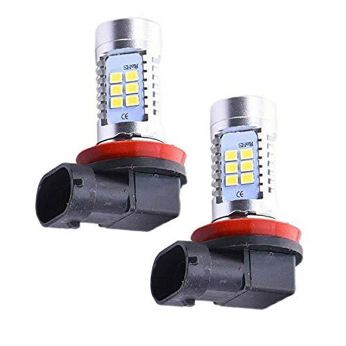 Nirmon 2X Bombilla de Luz Antiniebla LED H8 H9 H11 CREECOB Bombilla de Luces Antiniebla LED SúPer Brillante 6000K LáMparas de Alta Potencia 200W Blanco