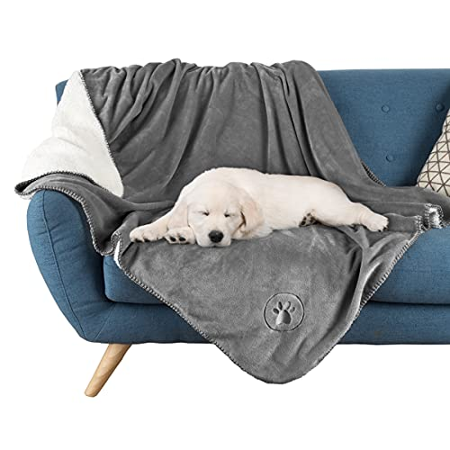 Waterproof Pet Blanket Collection– Reversible Throw Protects Couch,...