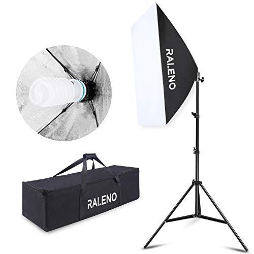 Studio Softbox Iluminación Kit Fotografía, Raleno 50x70cm