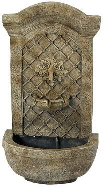 2021 Sunnydaze Rosette Outdoor Solar Wall Fountain - high quality Hanging Waterfall Wall Mounted Fountain & Backyard Water Feature - Florentine Stone lowest Finish - 31 Inch Tall outlet sale