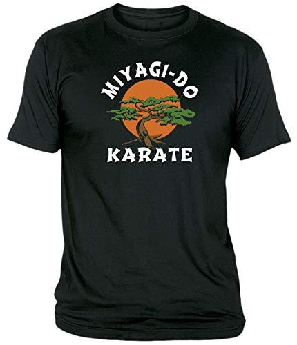 Camisetas EGB Camiseta Adulto/niño Miyagi Do Dojo Karate Kid ochenteras 80´s Retro (Negro, L)