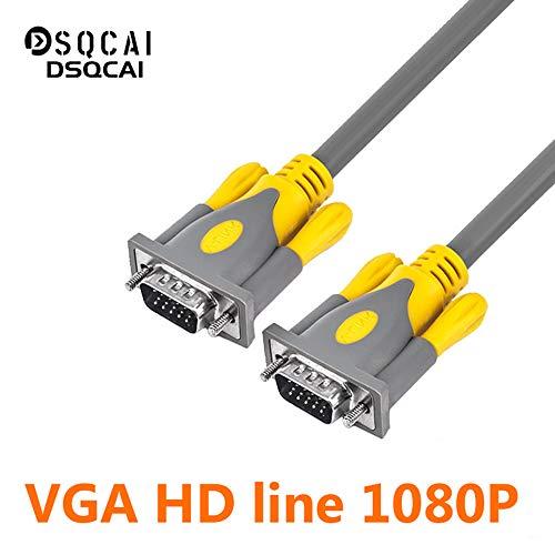 Cable VGA a VGA, chapado en oro VGA macho a macho SVGA Vídeo Monitor Cable con núcleos de ferrita-compatible para televisores de alta definición Muestra proyectores etc, Plug and Play,5m/16.5ft