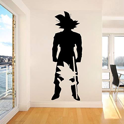 Anime Cartoon Manga Dragon Ball Super Saiyan Infancia Adulto Son Goku Little One Dream Big Etiqueta de la pared Calcomanía de vinilo Boy Fans Dormitorio Sala de estar Decoración para el hoga
