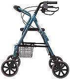 SISHUINIANHUA Anziani Shopping Rollator Walker Walking Aid Telaio Leggero Mobilità Trolley Scooter Passeggino con Seduta e Bag 4 Ruote per Eldly carico 120 kg