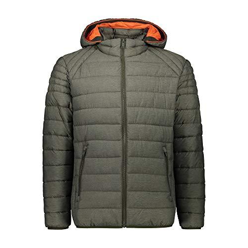 CMP M Jacket Zip Hood Jacquard Melange Grün, Herren Thinsulate™ Isolationsjacke, Größe 56 - Farbe Oil Green Melange