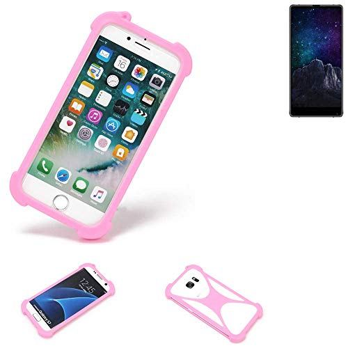 K-S-Trade® Handyhülle Für M-Horse Pure 2 Schutzhülle Bumper Silikon Schutz Hülle Cover Case Silikoncase Silikonbumper TPU Softcase Smartphone, Pink (1x)
