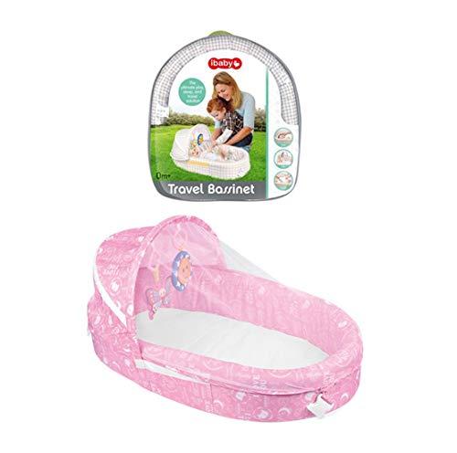 Baby-Opklapbed Met Klamboe Sussen Bed Speelgoed Bed,Multifunctioneel Draagbaar Scheidingsbed,Voorkom Insectenbeten,Bevrijd Moederhanden,Pink