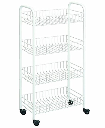 Metaltex USA Inc. 4-tier Rolling Cart, White