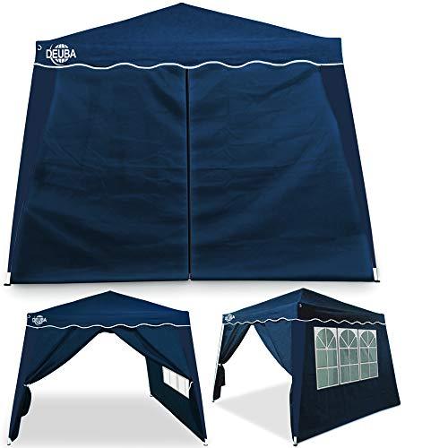 Deuba® 2X Seitenwand Pavillon für 3x3m Capri wasserabweisend Faltpavillon Pop Up Partyzelt Pavillonwand Seitenteil Blau
