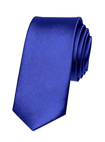 Autiga® - Corbata para hombre, para boda, confirmación, trabajo, corbata estrecha de estilo retro Mittelblau Talla única