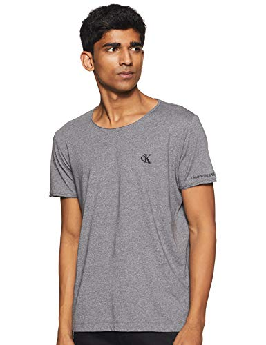 Calvin Klein Grindle Raw Edge tee Camiseta, Gris (Abstract Grey Pp3), Medium para Hombre