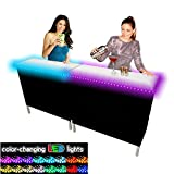 Portable party Bar W/ LED lights: LED glow Lights feature 16 different colors, 4 Light modes (Flashing, Solid, Fade, etc.) w/ Adjustable Speed & Brightness. Requires (3) AA batteries per side - Batteries not included. Features: lightweight, portable,...