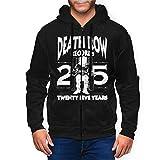 Rufischi Men's Death_Row_Records Athletic Fit Full Zip Sweatshirt Active Hoodie Jacket Black