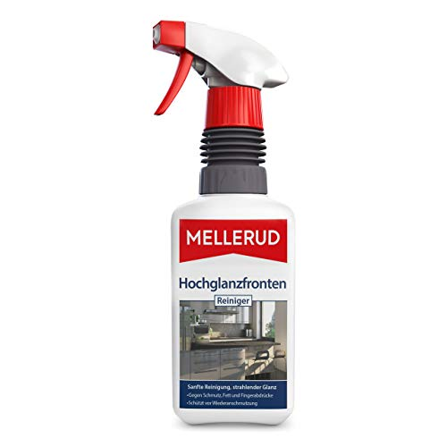 Mellerud Hochglanzfronten Reiniger – Effektives Spray zur Reinigung von Schmutz, Fett und Fingerabdrücken – 1 x 0,5 l
