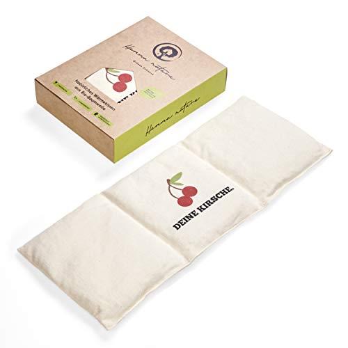 Hemma Nature Kirschkernkissen aus Bio Baumwolle - Wärmekissen fair & nachhaltig - ideal für Babys, Kinder und Erwachsene 50x20cm