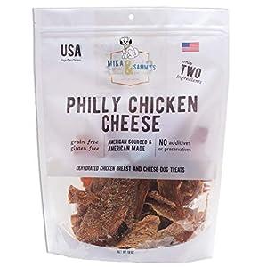 Mika & Sammy's Gourmet Chicken Jerky Dog Treats. Made in USA. (Philly Chicken Cheese, 12 oz)