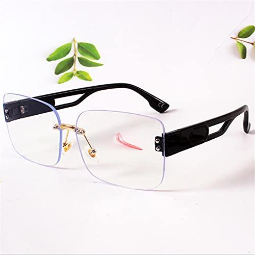 ShSnnwrl Gafas Sol De Hombre Mujer Polarizadas Sunglasses Gafas De Sol Rectangulares Sin Marco para Mujer, Gafas De Sol Verdes con Gradien
