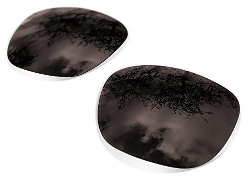 sunglasses restorer Kompatibel Ersatzgläser für Oakley Holbrook, Polarisierte Black Iridium Gläsern
