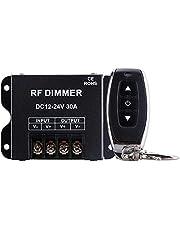Varadyle Atenuador LED Control Remoto InaláMbrico de Alta Potencia RF de 3 Botones Atenuador de Luz MonocromáTico DC12-24V