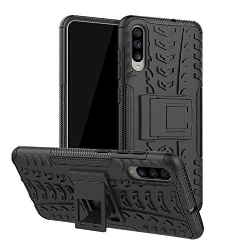 betterfon | Outdoor Handy Tasche Hybrid Hülle Schutz Hülle Panzer TPU Silikon Hard Cover Bumper für Samsung Galaxy A70 SM-A705 / Galaxy A70s SM-A707 Schwarz