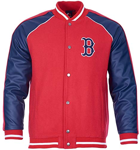 Majestic Boston Red Sox Melton Baseball Letterman MLB Jacke, XS