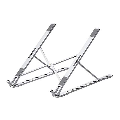 Cavis Laptop Stand, Heat-Dissipating Aluminum Alloy Stand, Portable Adjustable Lifting Laptop Support-Silver