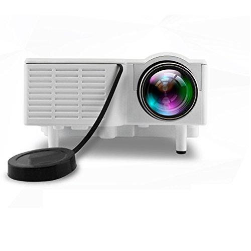 Lightinthebox QVGA 400 LM Mini HD Home LCD Projector with HDMI Input TV PC Laptop PC SD Card Slot, USB, VGA Port, 3-in-1 AV (White)