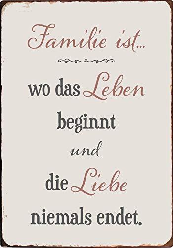 IB Laursen Metallschild 'Familie ist.'