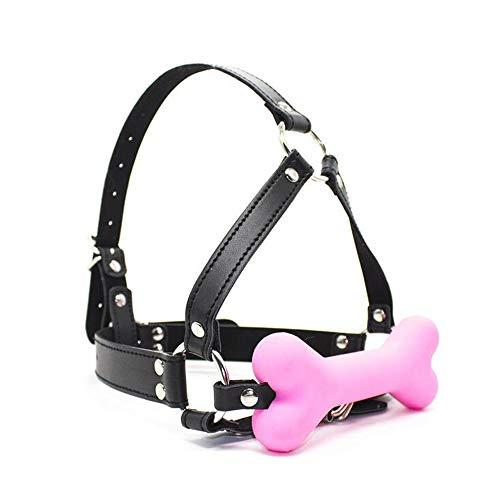 L Big Boss Mundschutz für Hundehalsband, Knochenform, Pink