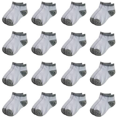 Toddler Socks 16 Packs- Kids Low Cut Ankle Socks Baby Boys Girls Breathable Socks Bulk (2-4 Years Old)