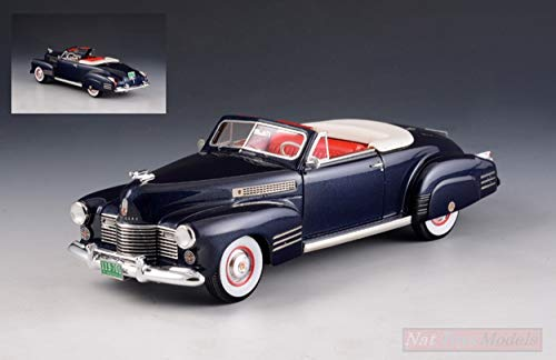 GLM Models GLM119701 Cadillac Series 62 Convertible Open TOP 1941 METC Blue 1:43 kompatibel mit