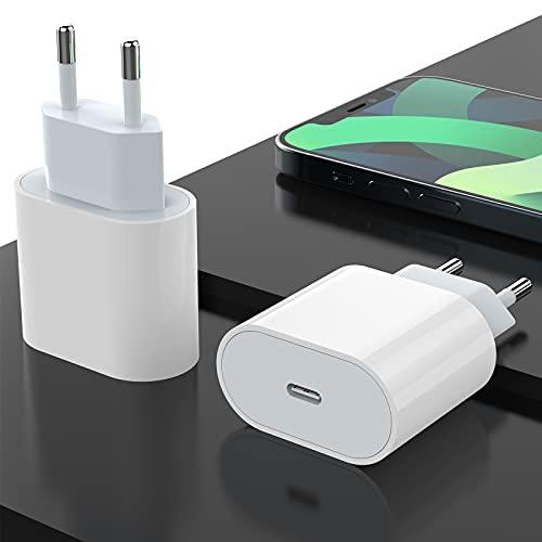 20W USB C Cargador Rápido 2 Piezas, Carga Rapida Tipo C Adaptador Power Delivery 3.0 Replacement Cargadores Compatible con i Phone 12/12Pro/12Mini/11/SE 2/XS/XR/X/8, Galaxy S20/S10/Note20