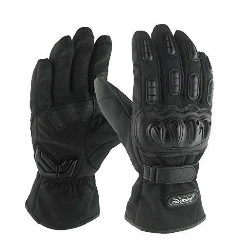 SHT Gants Imperméables De Moto, Gants D'équitation Extérieurs Chauds Froids d'hiver (1 Paire),Black,L