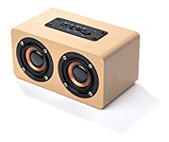 Bluetooth speaker works up to 25 feet from device - compatible with all Bluetooth devices like iPhone, Samsung, tablets, laptops, and computers 3-Hour charge time provides 10 hours of listening - includes micro-USB charging cable Rich, wood-look fini...