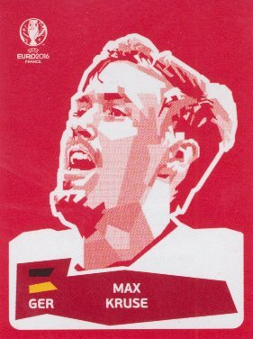 Panini UEFA EURO 2016 France - Max Kruse (Coca Cola Sticker)