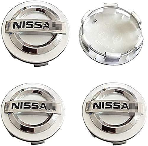 4pcs Coche eje de la rueda Tapas centrales para Nissan Qashqai Tiida Almera Altima Teana X-Trail, a Prueba de Polvo Decorativa Accesorios De Estilo