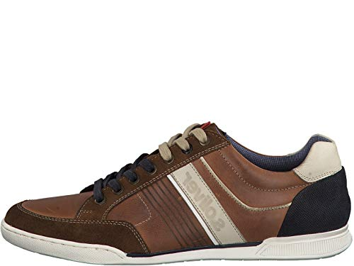 s.Oliver Herren Low-Top Sneaker 13620-22,Männer Halbschuh,Sportschuh,Schnürschuh,atmungsaktiv,Cognac Comb,44 EU
