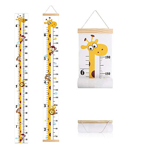 IWILCS Baby Messlatte Höhe Diagramm, Höhe Wachstum Diagramm, Wachstum Wall Chart, Kinder Messlatte, Mit Giraffenmuster für Schlafzimmer Kinderzimmer-Wanddekorationen(200cm *20cm)