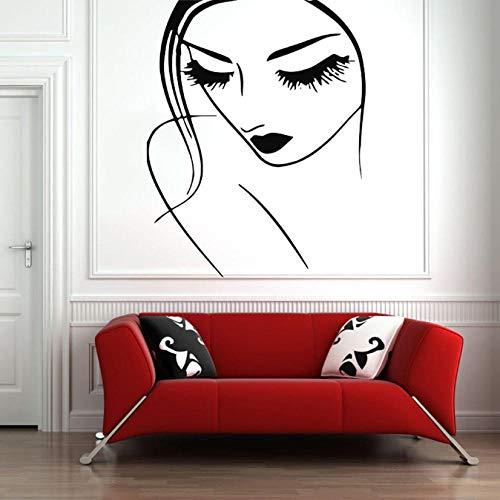 Cils Maquillage Sticker Lèvres Yeux Vinyle Autocollant Stickers Fille Femme Salon De Beauté Coiffeur Spa Home Decor Chambre Art 42X52 Cm