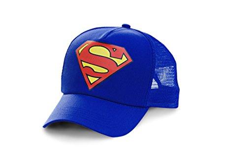 Logoshirt Superman - Logo Trucker Cap - DC Comics - Bedruckt - Original Kappe blau - Lizenziertes Originaldesign