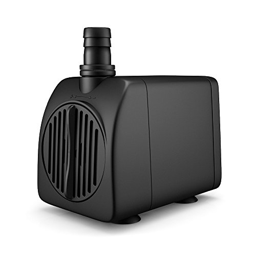 Uniclife UL210 Submersible Water Pump 210 GPH 13W Quiet Indoor Outdoor Water/Garden/Fountain/Pool/Aquarium with 6' UL Listed Cord