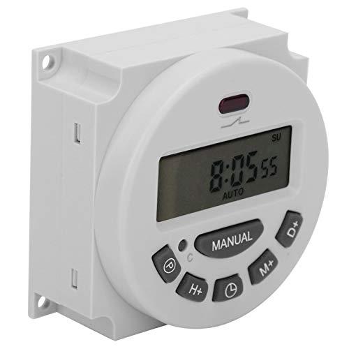 LANTRO JS - CN101A L701 Interruptor de temporizador digital, Interruptor de tiempo digital de 12V Temporizador electrónico de microcomputadora congeneroso LCD