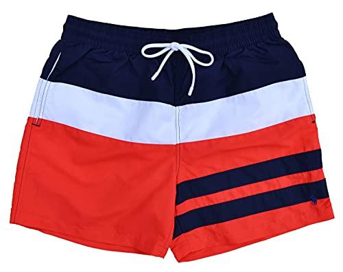 Ralph Lauren Costume da bagno Traveler Short Swim Shorts Blu Rosso Bianco blu scuro, rosso, bianco. XL