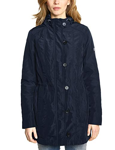 Cecil Damen 100479 Mantel, deep Blue, Large (Herstellergröße:L)